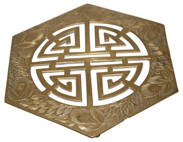 Brass Chinese Symbol Trivet