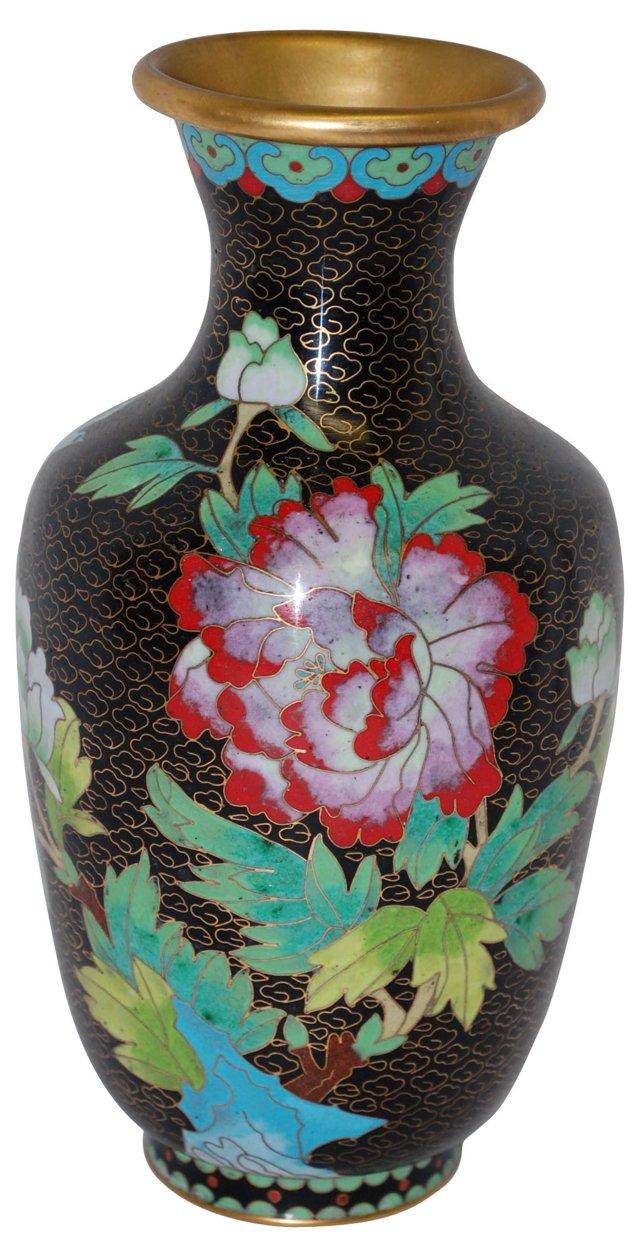 Cloisonné Floral Vase