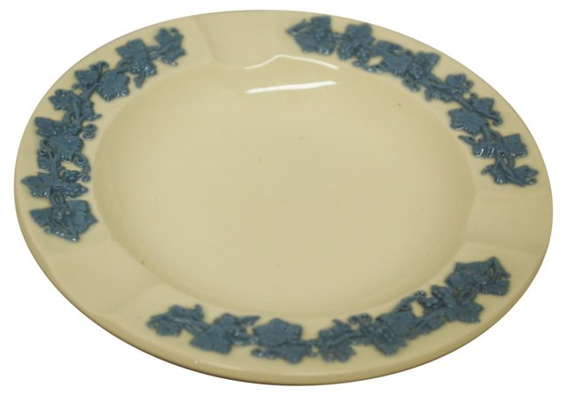 Wedgwood Embossed Queensware Ashtray