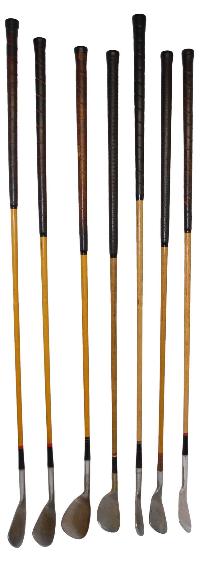 Antique Faux-Hickory Golf Clubs, S/7