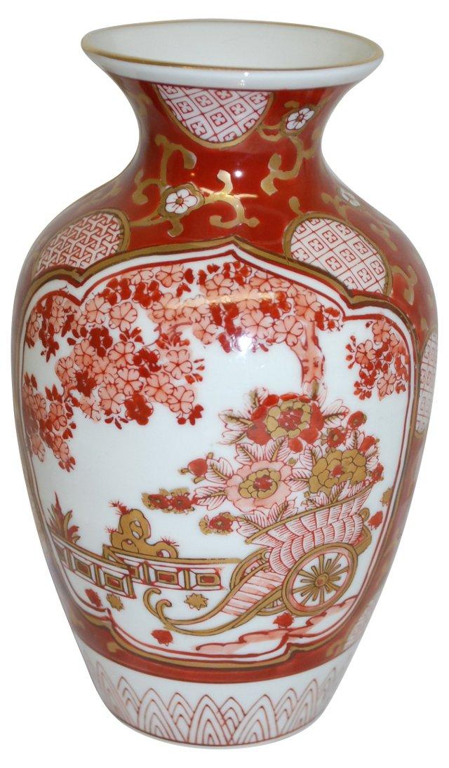 Red & Gold Imari Vase