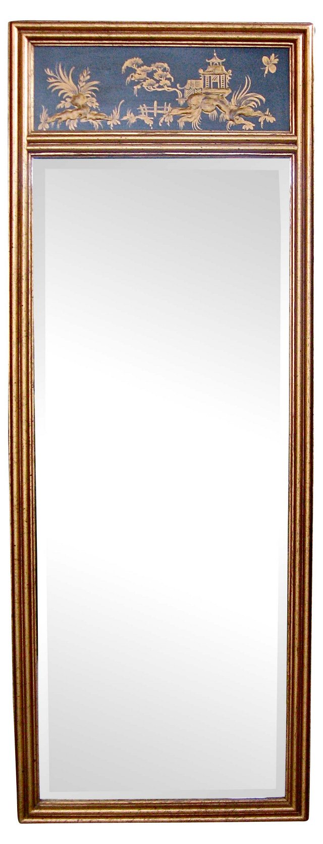Chinoiserie-Style Trumeau Mirror