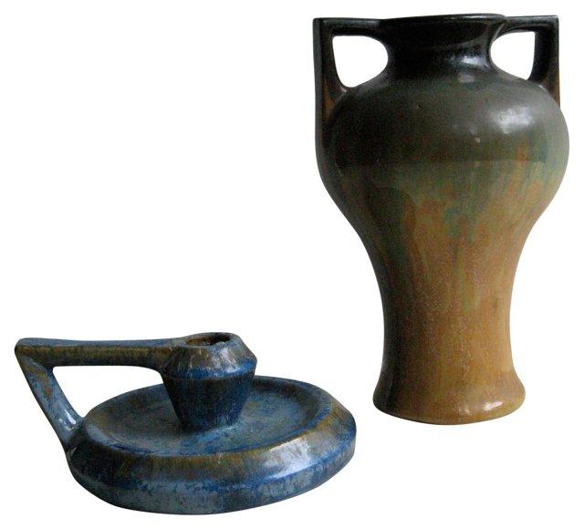 Fulper Pottery, Pair