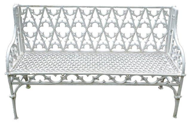 English Cast  Iron Bench