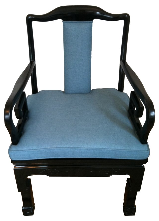 Black Lacquered Asian Chairs