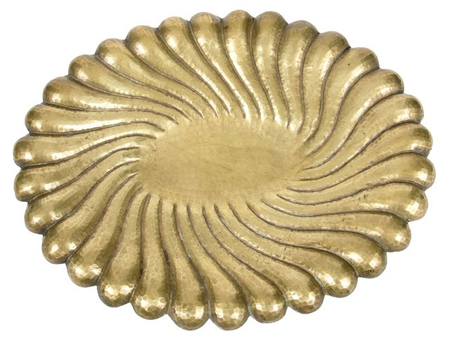 Italian Hammered Brass Bowl