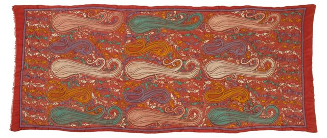 Paisley Silk Indian Tapestry