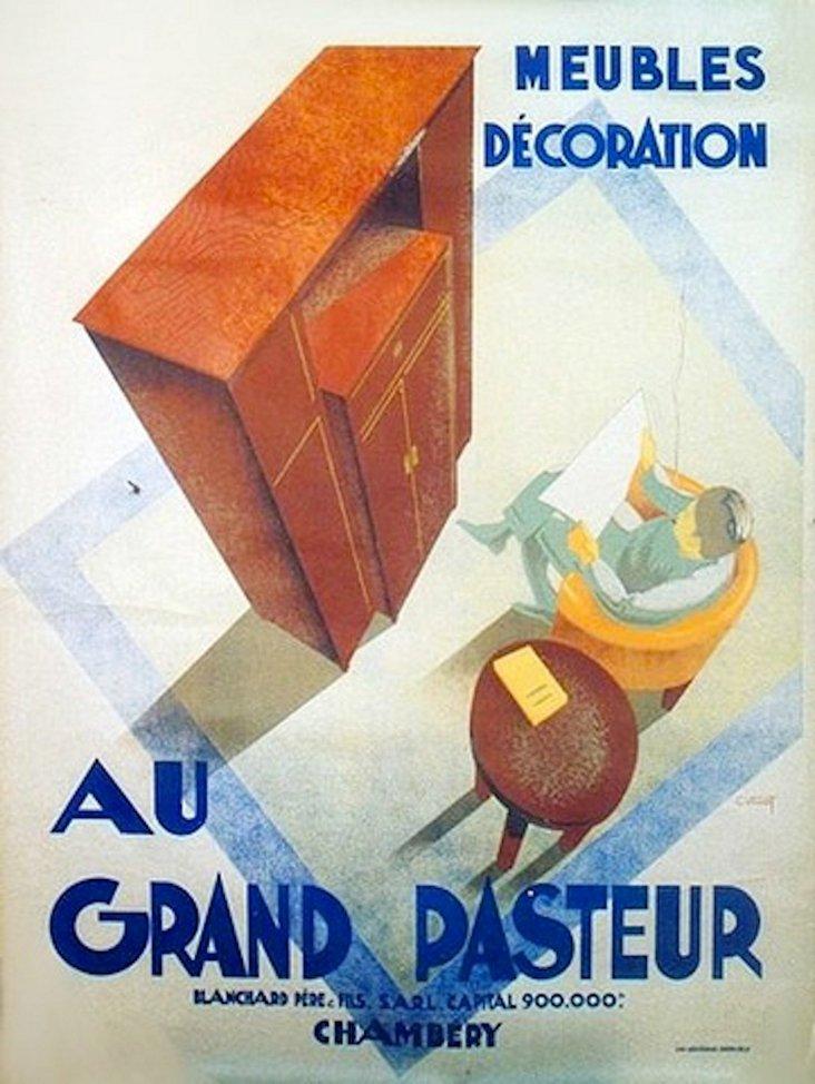 Art Deco Au Grand Pasteur Poster
