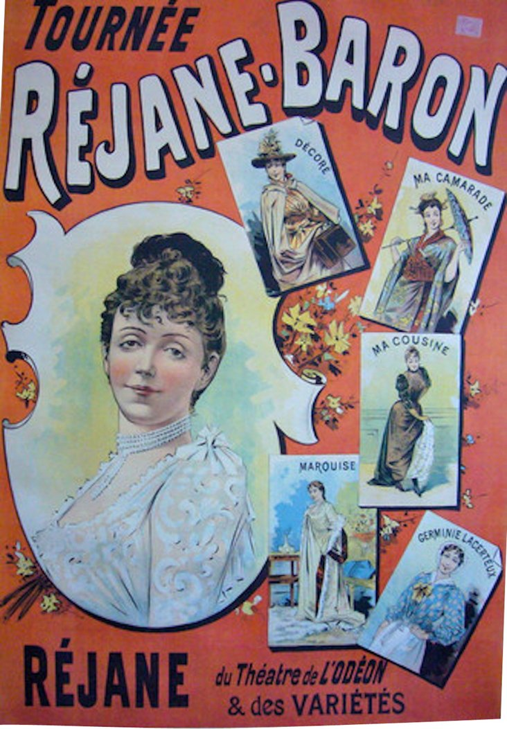 French Art Nouveau Theatrical Poster
