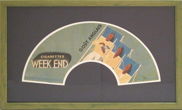 1920s French Fan Advertisement
