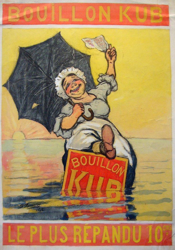 Italian Maquette for Bouillon Kub, 1912