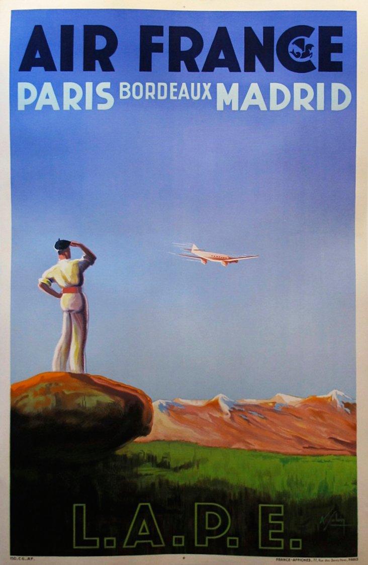 Albert Solon Air France Poster