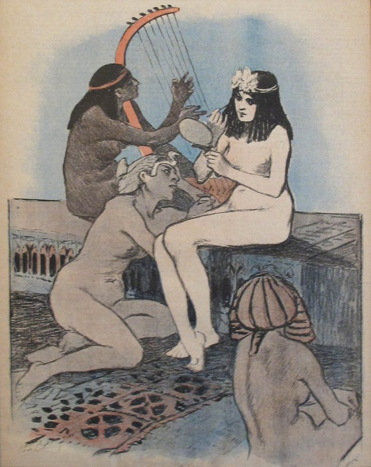 1890s French Ballariau Maidens Print