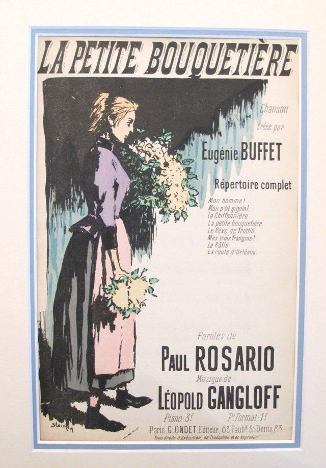 Eugenie Buffet Song Sheet, 1900