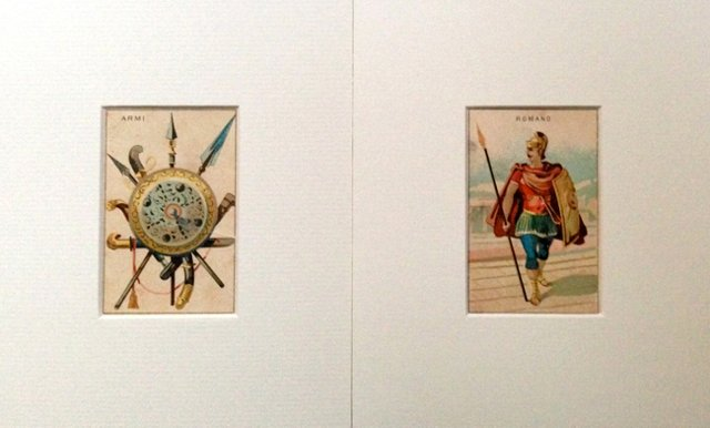 Italian Collector Cards, Pair