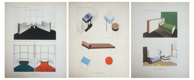 Furniture Design Sheets, 1929, S/3
