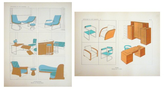 Art Deco Furniture Designs,  Pair