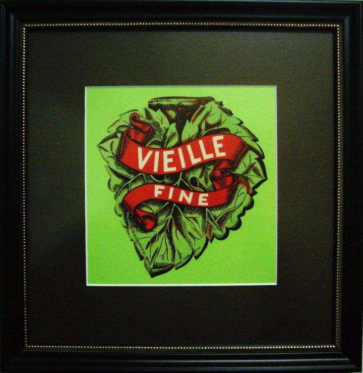 Vielle  Fine Wine Label, C. 1930
