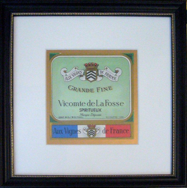 Green Vicomte Wine Label, C. 1930
