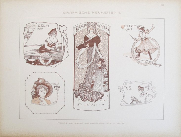 German Decorator     Sheet, C. 1900
