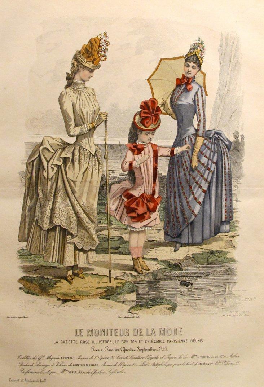 French Ladies' Fashion Plate, 1885