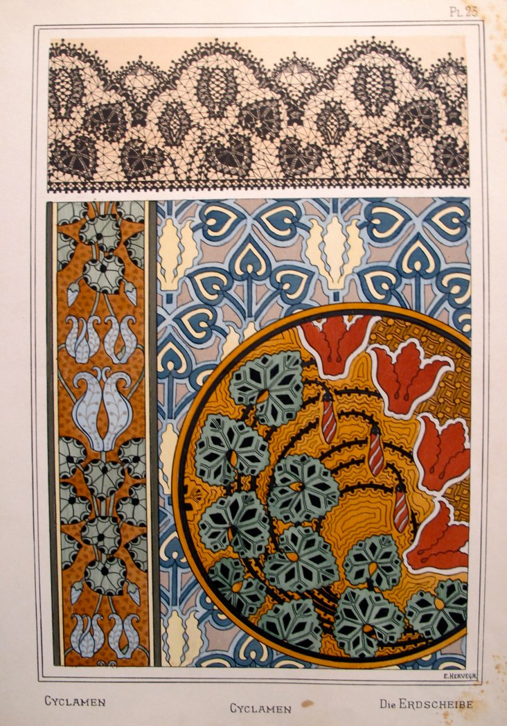 Cyclamen Decorator Sheet, 1885