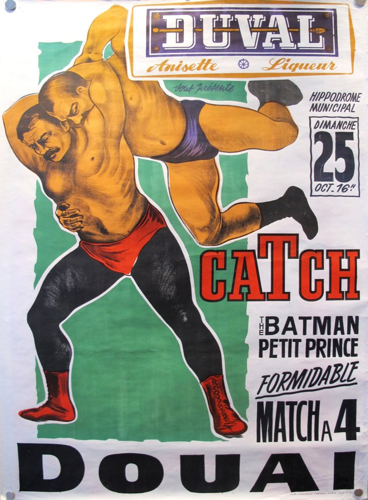 1940s French Wrestling Poster