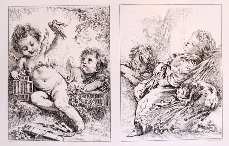 Two Scenes of Youth, Boucher, 1856