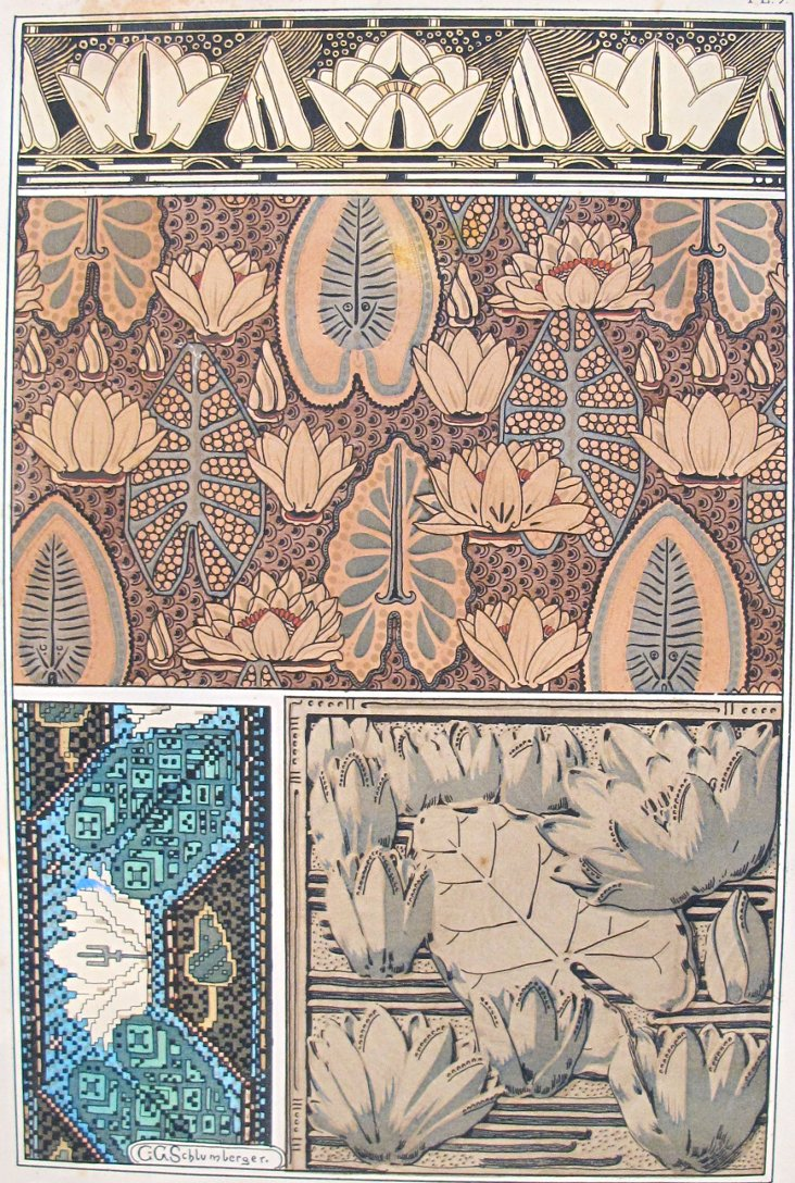 Water Lily Decorator Sheet, 1885