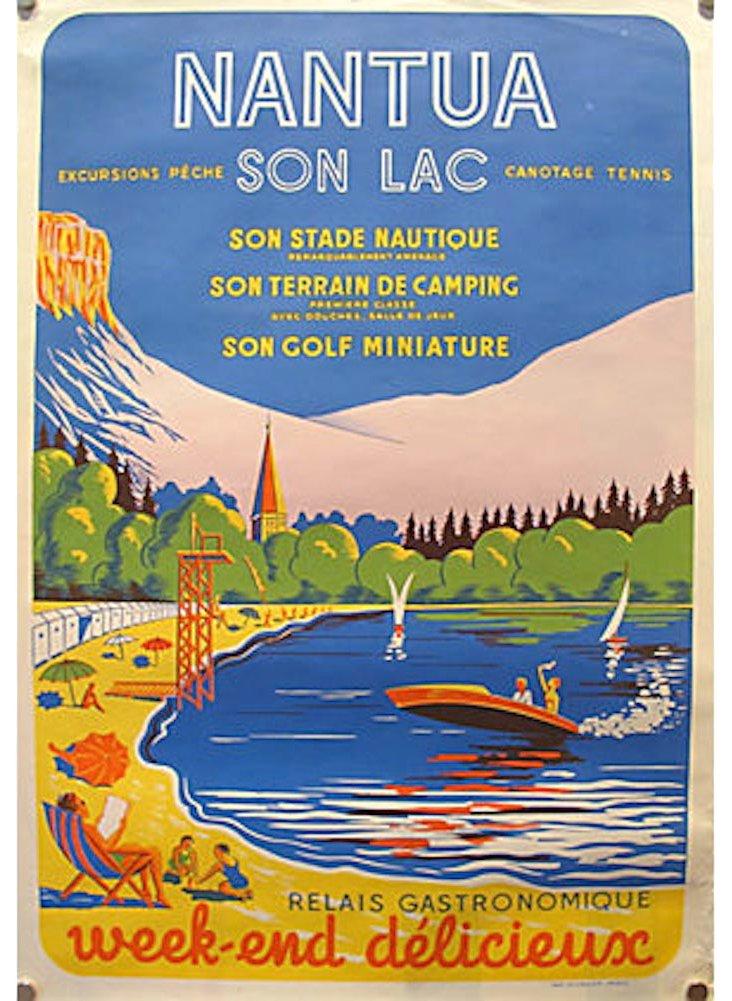 French Nantua Travel Poster, C. 1950