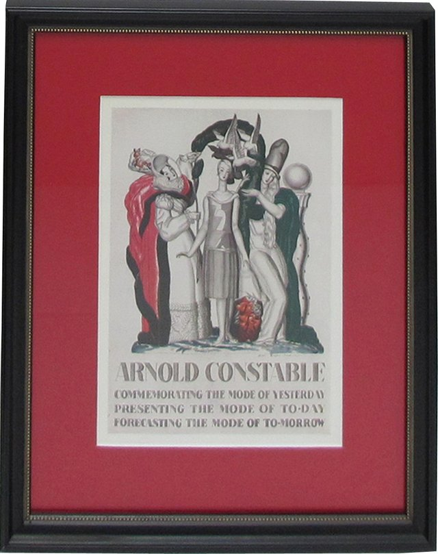 Framed Constable Fashion Print, 1928