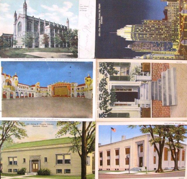 1950s Illinois Postcards, S/6