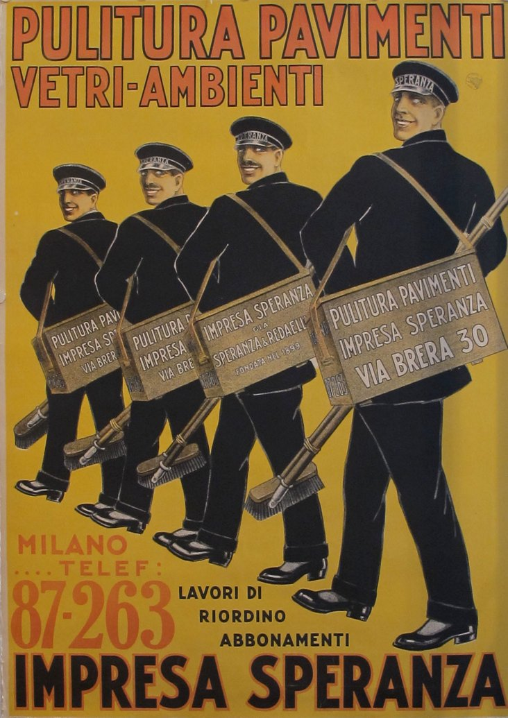 Milanese Street Cleaner  Poster