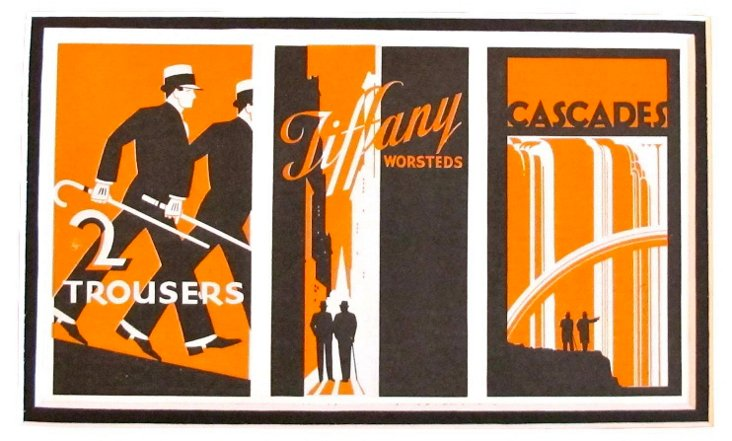 Art Deco Ad for Tiffany Trousers