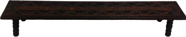 19th-C. English  Oak  Bench