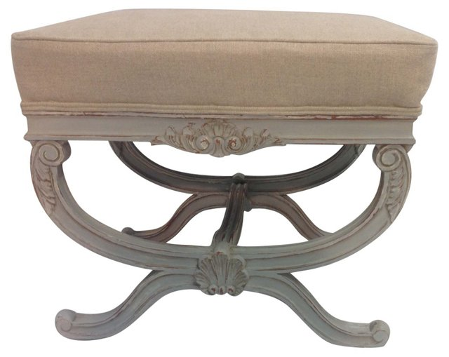 French-Style  Bench w/ Linen