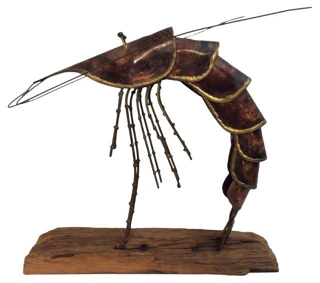 Midcentury Shrimp    Sculpture