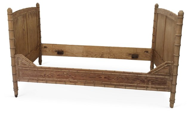 French Pine Faux-Bamboo Daybed