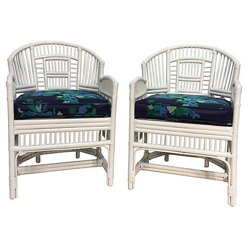 Brighton-Style Chairs, Pair