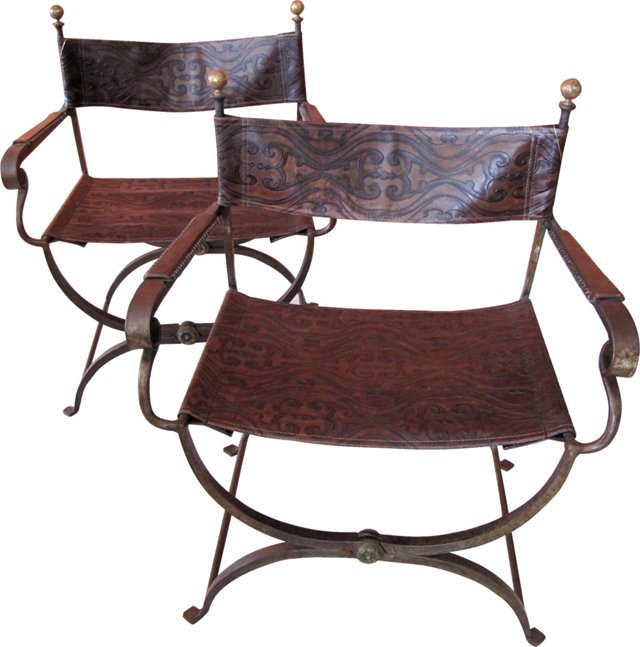 Savonarola  Chairs,  Pair