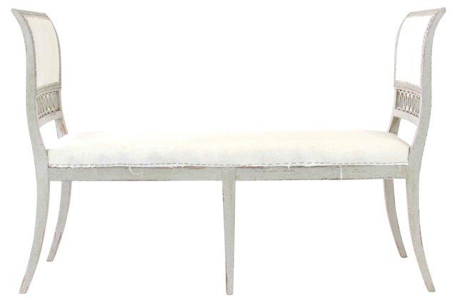 Gustavian-Style Bench