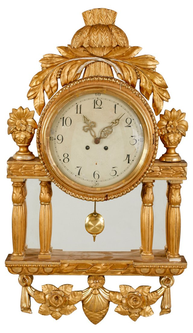 Early-20th-C. Gustavian-Style Clock