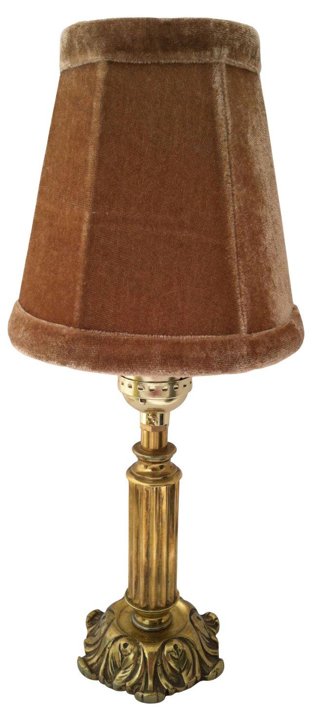 Gustavian-Style  Brass  Lamp