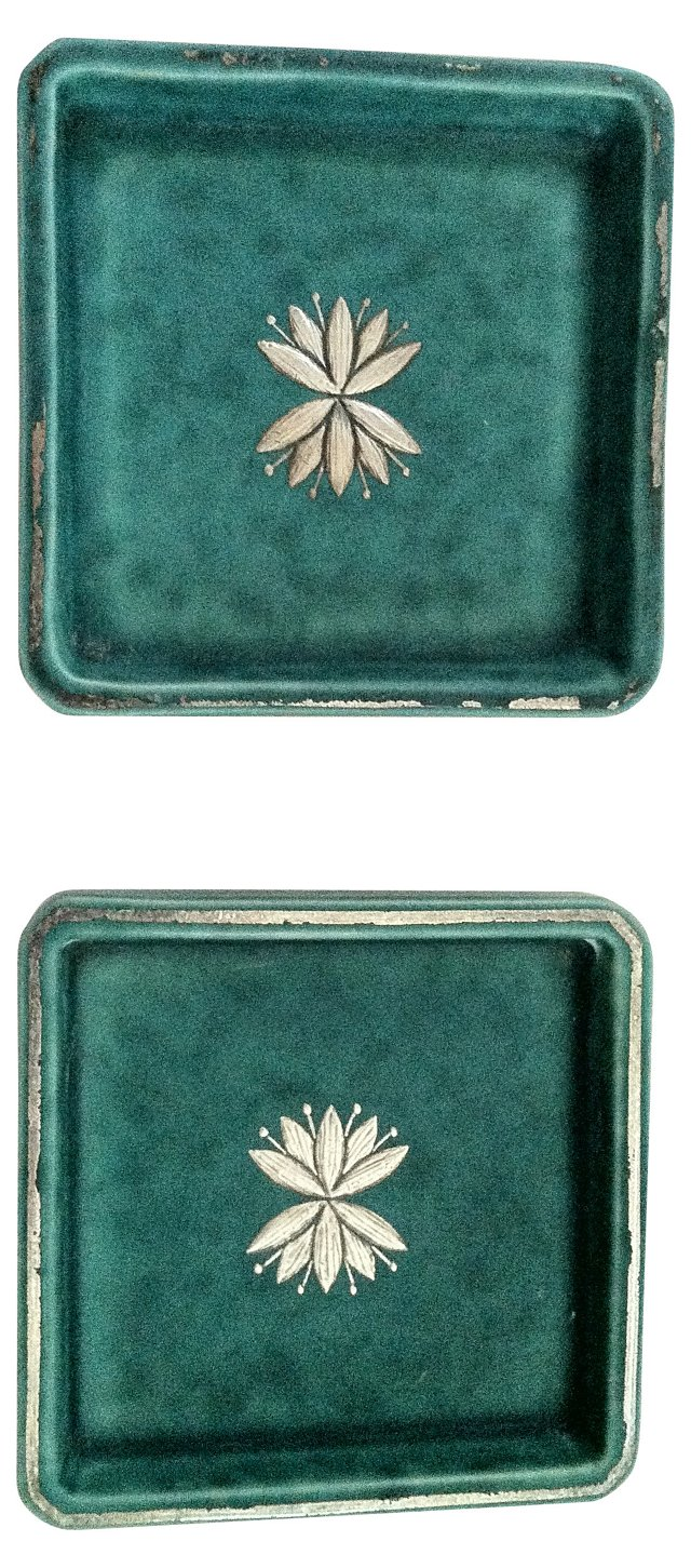 Swedish Argenta Trays, Pair