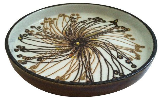 Danish Abstract Flower Dish