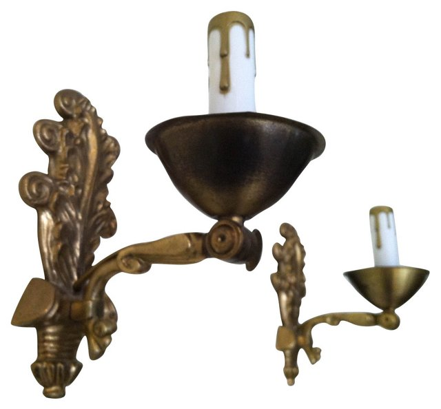 Early-1900s Swedish Sconces, Pair