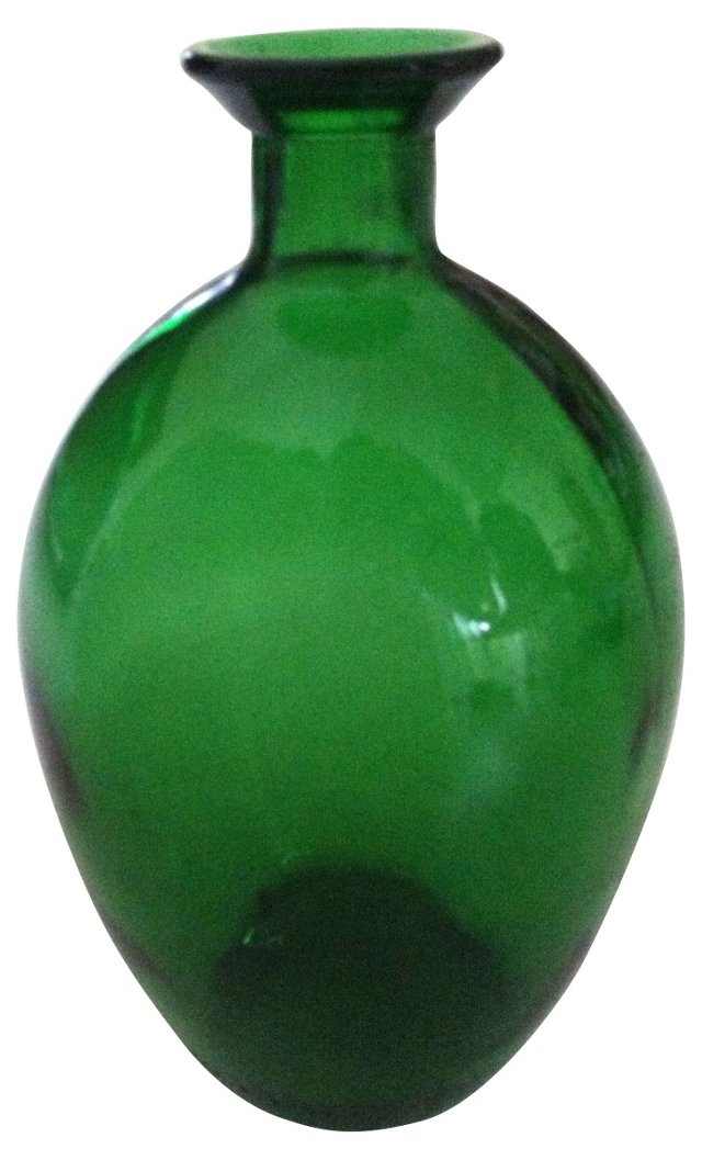 Swedish Midcentury Green Vase