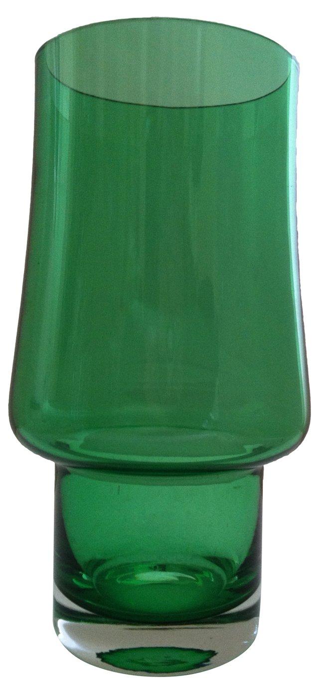 Midcentury Riihimäki Green Vase