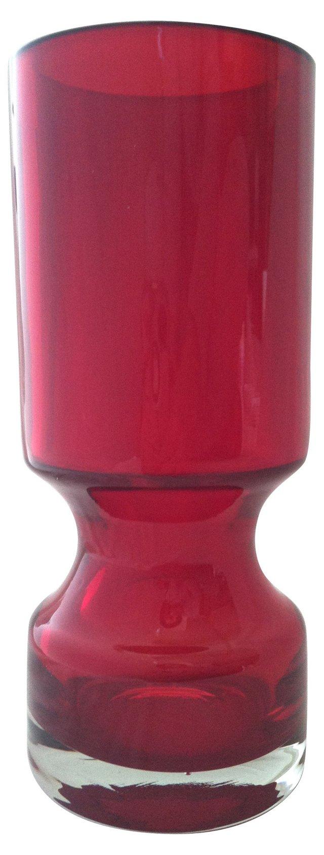 1970s Finnish Cranberry Vase