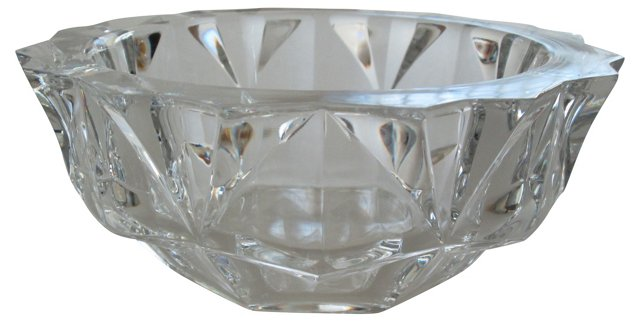 Large Swedish Orrefors Crystal Bowl